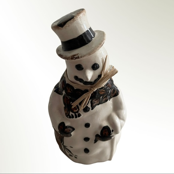 Hawaiian Tapa Floral Snowman Holiday Decor